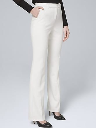 White House Black Market Womens Luxe Suiting Bootcut Pants by White House Black Market, Ecru, Size 10 - Regular