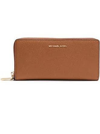 ed1e61d9d5df Michael Kors Michael Michael Kors Woman Pebbled-leather Wallet Light Brown  Size