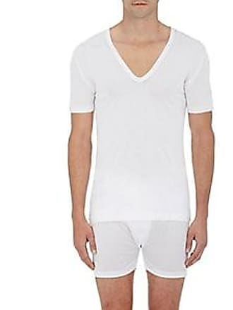 Zimmerli Mens V-neck T-shirt - White Size XXL