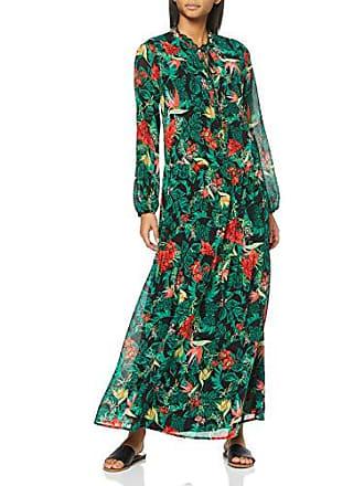 f6cc14638d8 Vila Clothes Vinema Maxi Dress rp Robe Multicolore (Black AOP  Amazonas)