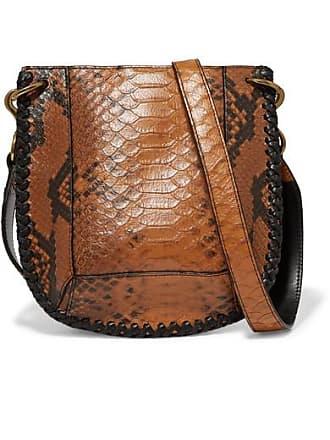 04b7939b44 Isabel Marant Nasko Whipstitched Snake-effect Leather Shoulder Bag - Tan