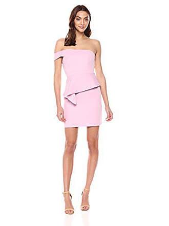 Bcbgmaxazria BCBGMax Azria Womens Off-The-Shoulder Peplum Dress, Mauve Mist 12