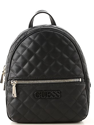 Guess Backpack for Women On Sale, Black, polyurethane, 2017, one size