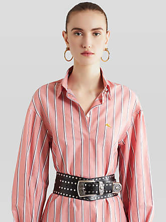 Etro Chemisier Dress With Embroidered Pegaso, Woman, Pink, Size 38