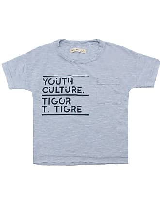 Tigor T. Tigre Camiseta Tigor T. Tigre Menino Escrita Cinza