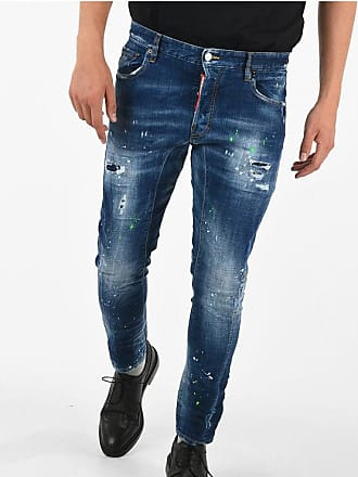 Dsquared2 16cm Printed and Distressed TIDY BIKER Jeans Größe 46