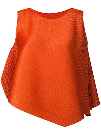 Issey Miyake pleated blouse - Brown