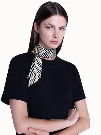 Akris Scarf in Silk Twill Diagonal Tweed Print