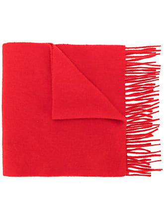 Pringle Of Scotland slim knit scarf - Vermelho