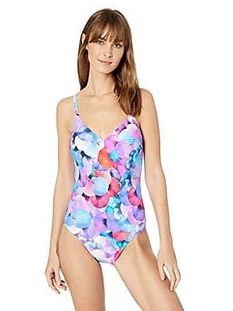 2e98784b5da77 Gottex Womens V-Neck One Piece Swimsuit, Pocket Full of Posies Multi, 10