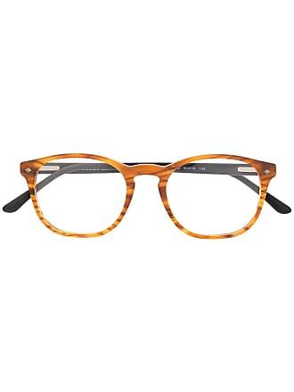 Giorgio Armani Armação de óculos quadrada - Marrom
