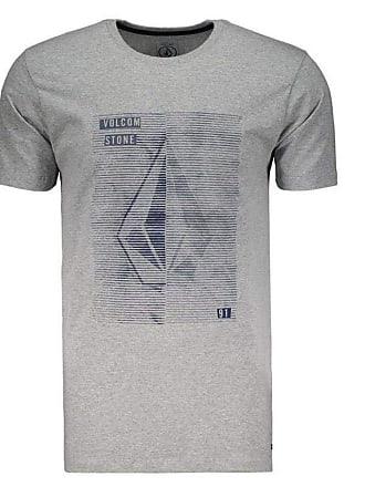 Volcom Camiseta Volcom Fit Line Tone Cinza Mescla