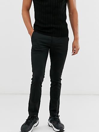 Topman skinny smart trousers in black