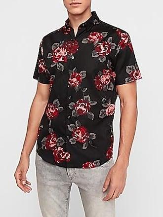 Mens Brave Soul Tropical Floral Tiger Print Viscose Short Sleeve Summer Shirt