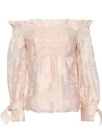 64c7d555623381 Rebecca Taylor Rebecca Taylor Woman Off-the-shoulder Shirred Fil Coupé Silk -blend