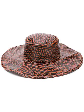 Missoni Chapéu de couro com logo - Marrom