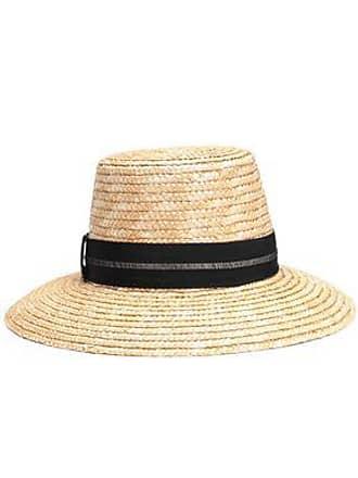 67167f3aaf2b45 Eugenia Kim Eugenia Kim Woman Stevie Grosgrain-trimmed Woven Straw Hat Sand  Size ONESIZE