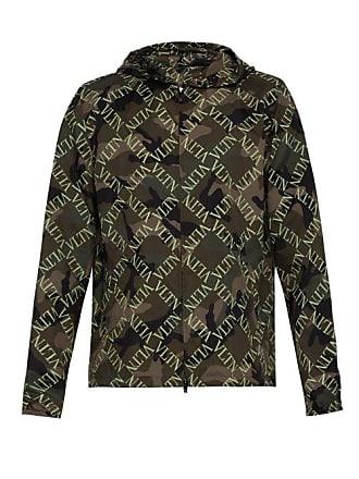 Valentino Vltn Slim Fit Camouflage Hooded Jacket - Mens - Khaki fd6202f5b