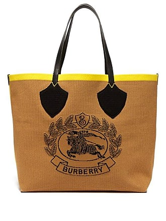 15310f775c Burberry Vintage Check Large Stretch Knit Tote - Womens - Black Yellow