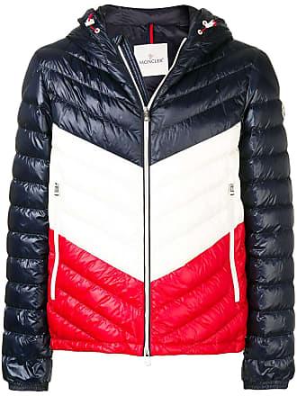 Moncler colour block padded jacket - Azul