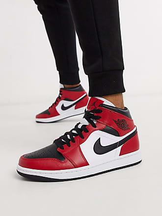 Nike Jordan Nike - Air Jordan 1 - Scarpe da ginnastica alte rosse e nere-Rosso