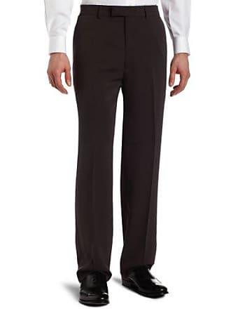 Haggar Mens Metro Gab Plain Front Dress Pant,Charcoal,36 / 32