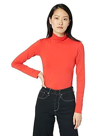 2cde6cb63fc Calvin Klein Jeans Womens Long Sleeve Turtleneck Sweater, Tomato Large