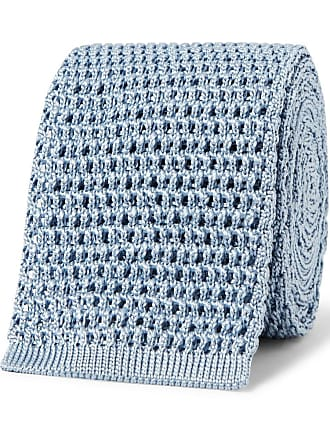 Tom Ford 7.5cm Knitted Silk Tie - Light blue