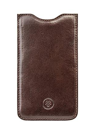 Maxwell Scott Maxwell Scott - Luxury Chocolate Leather iPhone Seven Plus Phone Case