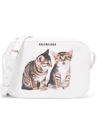 Balenciaga Everyday Xs Aj Printed Leather Camera Bag - White