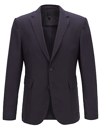 BOSS Travel Line slim-fit jacket in micro-patterned fabric