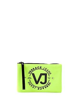 Versace Jeans Couture Necessaire com tachas e logo - Amarelo