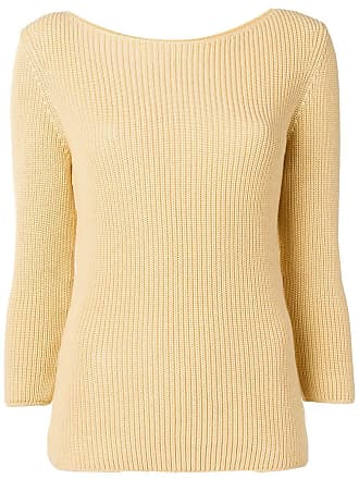 Gentryportofino ribbed knit sweater - Amarelo
