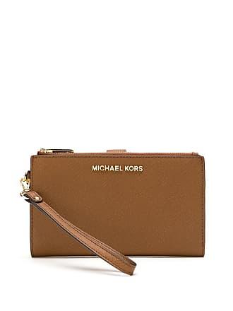 Michael Michael Kors Carteira Double Zip de couro - Marrom