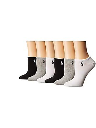 74a6f0e789a1 Ralph Lauren 6-Pack Flat Knit Ultra Low Cut Socks (Assorted) Womens Crew