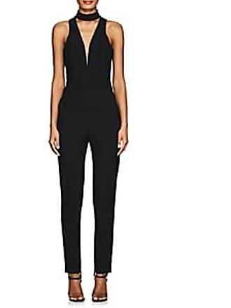 0d6a27858d3 Michelle Mason Womens Piqué V-Neck Jumpsuit - Black Size 2