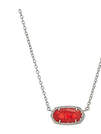 Kendra Scott Elisa Necklace (Rhodium/Ruby Red) Necklace