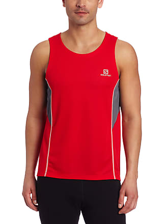 Salomon Camiseta Regata Salomon Masculina Trail Vermelha/cinza G