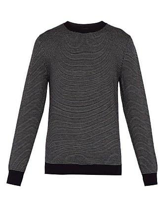 A.P.C. A.p.c. - Fine Striped Crew Neck Sweater - Mens - Navy Multi