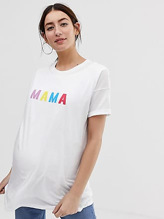 b5a6df4d Asos Maternity ASOS DESIGN Maternity nursing double layer t-shirt with mama  slogan - White