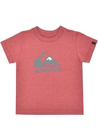 45e21dfd0f7e1 Quiksilver Camiseta Quiksilver Manga Curta Menino Vermelha