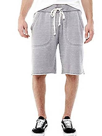Alternative Mens Light French Terry Victory Short, Nickel, 2X