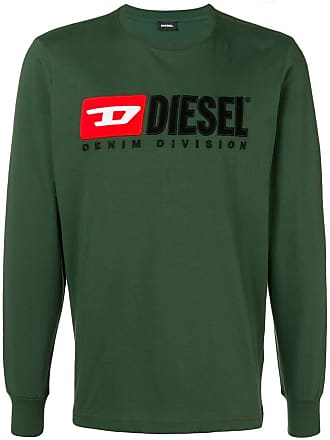 Diesel embroidered logo jersey sweater - Green