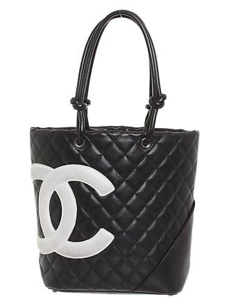 ab70e12c176a5 Chanel gebraucht - Tote Cambon Small aus Leder - Damen - Schwarz   Weiß -  Leder