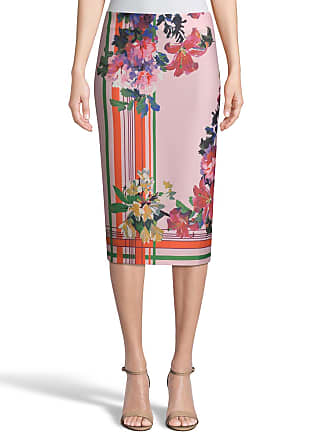 5twelve Striped Floral-Printed Scuba Pencil Skirt