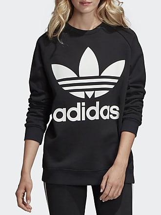 3e20e18abe3163 adidas Originals Sweatshirt Oversize, bedruckt - SCHWARZ - adidas Originals