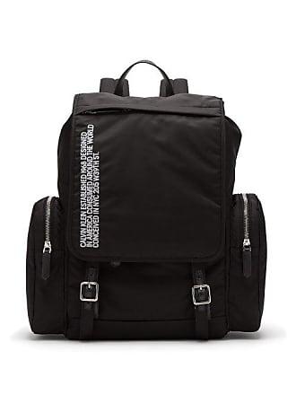 CALVIN KLEIN 205W39NYC Calvin Klein 205w39nyc - Logo Embroidered Nylon Backpack - Mens - Black White
