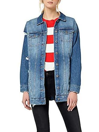 Only Onlcrispy Long Jacket MB Noos, Veste en Jean Femme, Bleu Blue Denim, 9855086ea71a