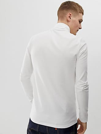 a461147a32b Asos organic muscle fit roll neck long sleeve t-shirt with stretch - White