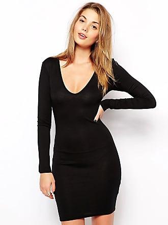 0eeb99dc0b Club L Essentials Plunge Neck Bodycon Dress
